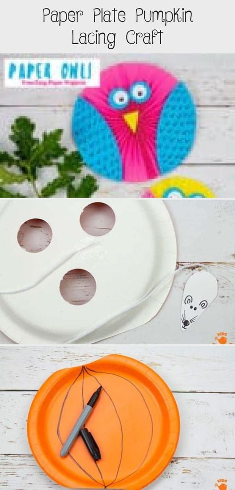 This Paper Plate Pumpkin Lacing Craft is loads of fun! The cheeky mouse has nibbled holes in the pumpkin! Now kids can have lots of fun threading him through the holes building their fine motor skills.  An adorable interactive paper plate pumpkin craft for toddlers and preschoolers. A fun non scary Halloween craft for kids. #halloween #halloweencrafts #pumpkins #pumpkincrafts #kidscrafts #craftsforkids #kidscraft #fallcrafts #autumncrafts #paperplates #paperplatecrafts #kidscraftroom #toddlers #