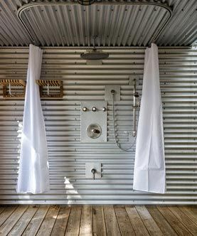 Shower Track Rods Tin Shower Walls Metal Sheet Design