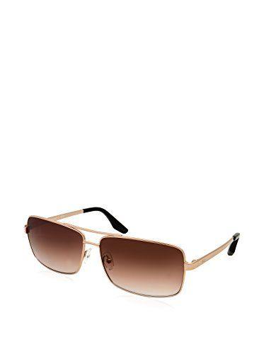 56b3285452 AQS Unisex Steel Classic Navigator Sunglasses Gold Brown -- Amazon most  trusted e-retailer  Sunglasses50Off