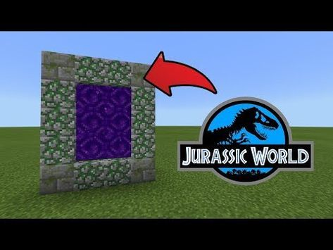 How To Make a Portal to the Jurassic World Dimension in MCPE