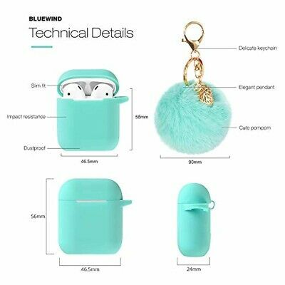 quality design 8906b 2bdce Airpods Case Keychain Bluetooth AirPod Charging Protective Case ...