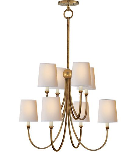 Thomas O Brien Reed 8 Light 27 Inch Hand Rubbed Antique Brass Chandelier Ceiling Light Visual Comfort Chandelier Visual Comfort Lighting Antique Brass Chandelier