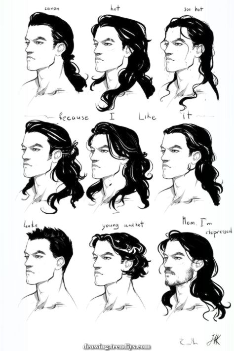 Fantasy Men With Long Hair New To All Of This But Thought I D Give It A Shot I Ll Update As I Anime Red Hair Guys With Black Hair Fantasy