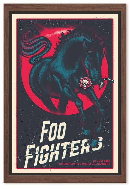 Foo Fighters - Hamburg gig poster Limited edition screen print