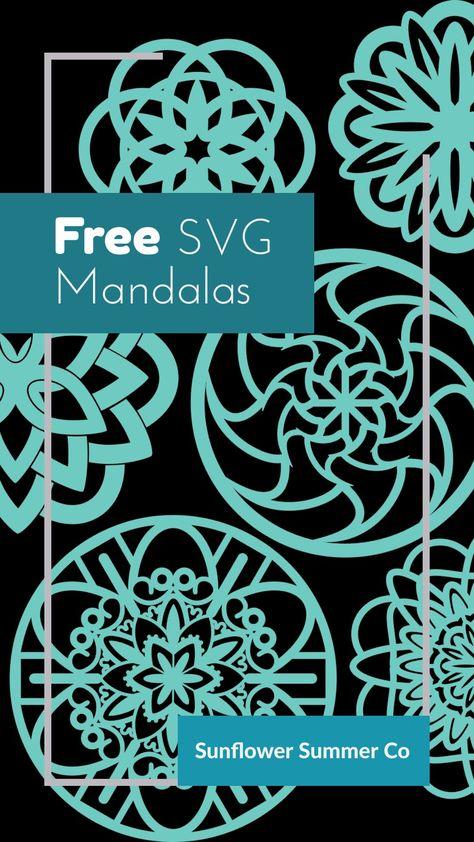 Mandalas are lots of fun to create. I love all the fun shapes you can make. Printable Stencil Patterns, 3d Cuts, Christmas Mandala, Cricut Svg Files Free, Cricut Tutorials, Cricut Ideas, Cricut Craft Room, Free Stencils, Freebies