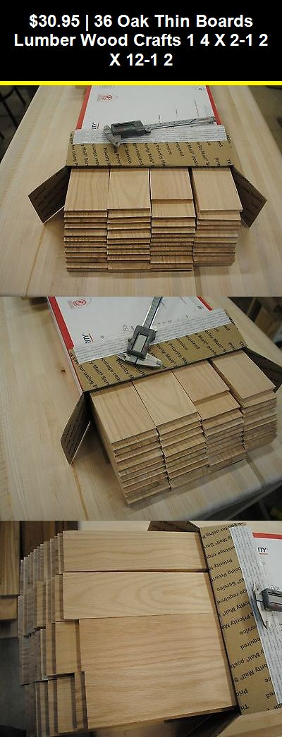 Woodworking Lumber 84011 36 Oak Thin Boards Lumber Wood Crafts 1 4 X 2 1 2 X 12 1 2 Buy It Now Only 30 95 On Ebay Wood Crafting Tools Wood Crafts Lumber
