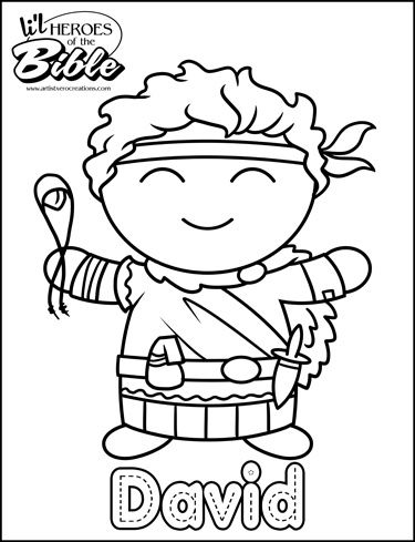 lil hereos of the bible david bible coloring pagescoloring - Bible Coloring Pages For Kids