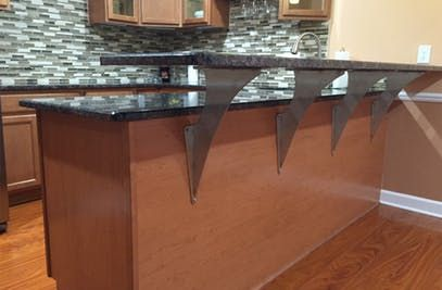 Our Alpine Elevated Counter Support Creates A Dramatic Bar Perfect