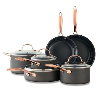 Food Network 10 Pc Nonstick Black Matte Ceramic Cookware Set Ceramic Cookware Set Copper Cookware Set Ceramic Cookware
