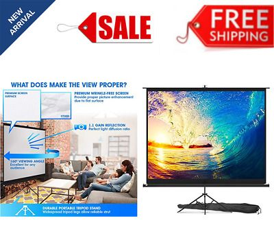 Ad Ebay Link Projector Screen With Stand 100 Inch Indoor And Outdoor Projection Screen In 2020 Outdoor Projection Screen Projection Screen Projector Screen