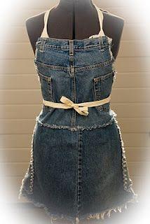 Denim love...upcycled blue jeans