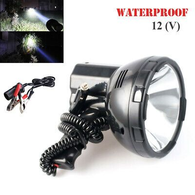 Sponsored Ebay 12v 35w Xenon Searchlight Fishing Boat Lighting Hand Held Camping Lamp Universal In 2020 Camping Lamp Bracket Lamp Boat Lights