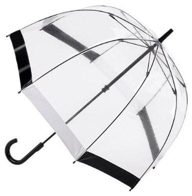 The Fulton Birdcage Dome Umbrella - Black & White Trim