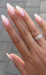 Almond Nails Acrylicnails Pretty Almond Shaped Pretty Almond Shaped Nails Light Pink Nails Light Pink Nail Polish Light Pink Acrylic Nails