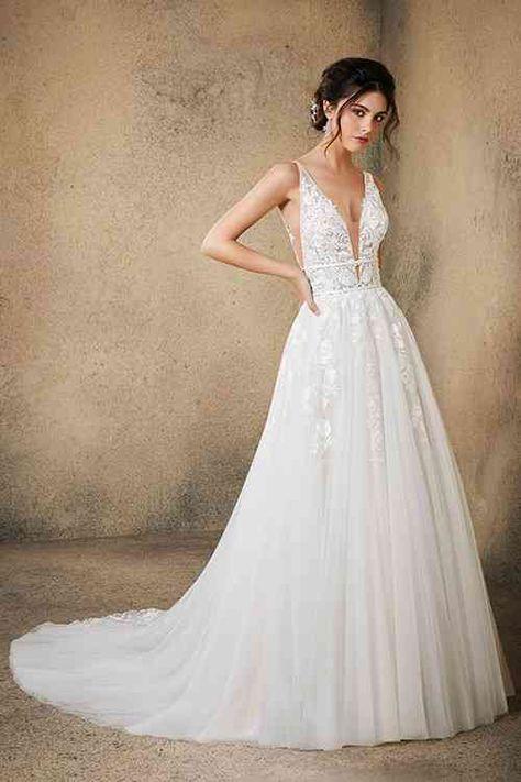Crystal Wedding Dresses, Wedding Dress Chiffon, Stunning Wedding Dresses, Bridal Wedding Dresses, Wedding Dress Styles, Princess Wedding Dresses, Designer Wedding Dresses, Mori Lee Wedding Dress, Lace Wedding