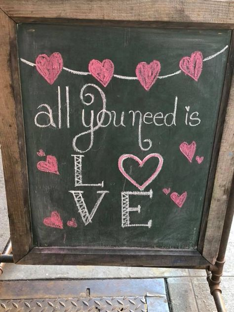 Great article about spending less but expressing your love! Chalkboard Doodles, Chalkboard Sayings, Chalkboard Art Quotes, Chalkboard Decor, Chalkboard Lettering, Chalkboard Designs, Chalk Writing, Chalkboard Writing, Happy Valentines Day
