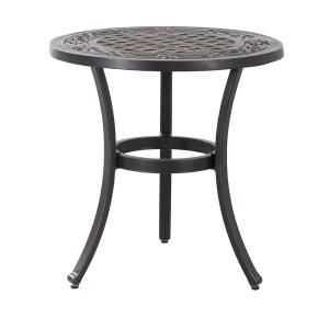 Hampton Bay 28 In Coastal Glass Mosaic Outdoor Patio Bistro Table Hd19153 The Home Depot In 2020 Bistro Table Outdoor Bistro Table Outdoor Furnishings