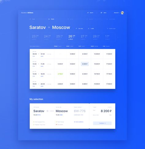 Saratov Airlines — redesign concept on Behance
