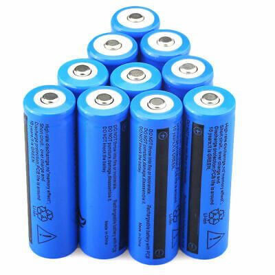 Ad Ebay Link 10x 18650 Batteries 3 7v Rechargeable Battery For Led Flashlight Torch Laser Pen In 2020 Flashlight Phone Accessories Shop Rechargeable Batteries