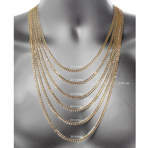 10k Gold 24 Inch Chain Necklace Gold Chains For Men Chain Necklace 24 Inch Chain