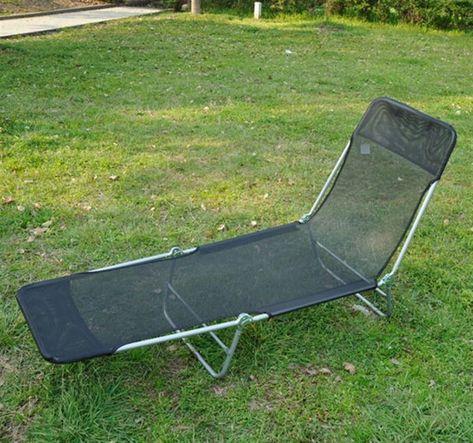 Terrific Details About Black Lightweight Adjustable Reclining Beach Machost Co Dining Chair Design Ideas Machostcouk