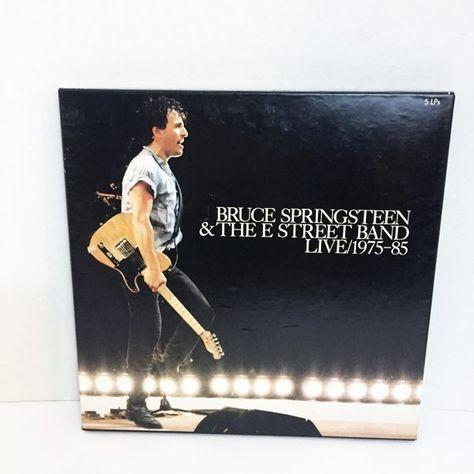 Vintage Bruce Springsteen Live 5 Lp Box Set 1975 85 Vinyl Lp Record Vinyl Album Bruce Springsteen Candy Room Fire Giants
