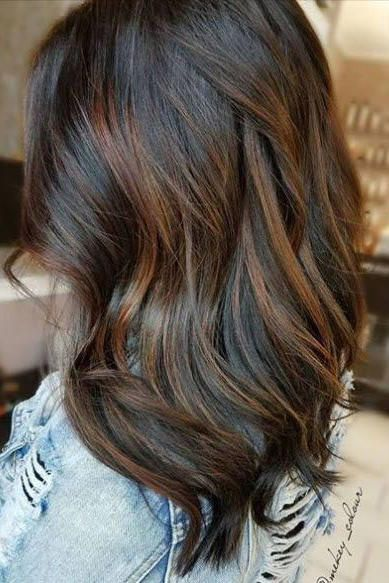 Low Maintenance Hair Colors That Let You Skip The Salon Brown Hair With Highlights Brunette Hair Color Chocolate Brown Hair Color