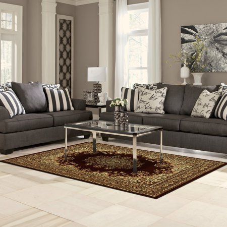 Superior Prescott Moisture Resistant Anti Static Indoor Area Rug Brown In 2020 Charcoal Living Rooms Charcoal Sofa Living Room Sets