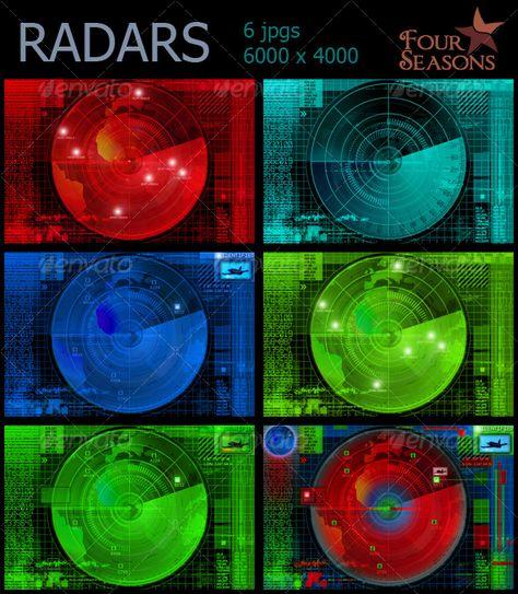 Abstract radars illustrations