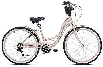 Buy Woman Bike Bayside Cruiser Kent 26 Rose Gold In 2020 Cruiser Bike Bicycle Women Womens Bike