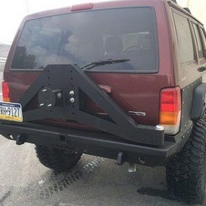 Cherokee Xj Slayer Rear Bumper With Tire Carrier Jeep Cherokee Xj Jeep Xj Jeep Cherokee