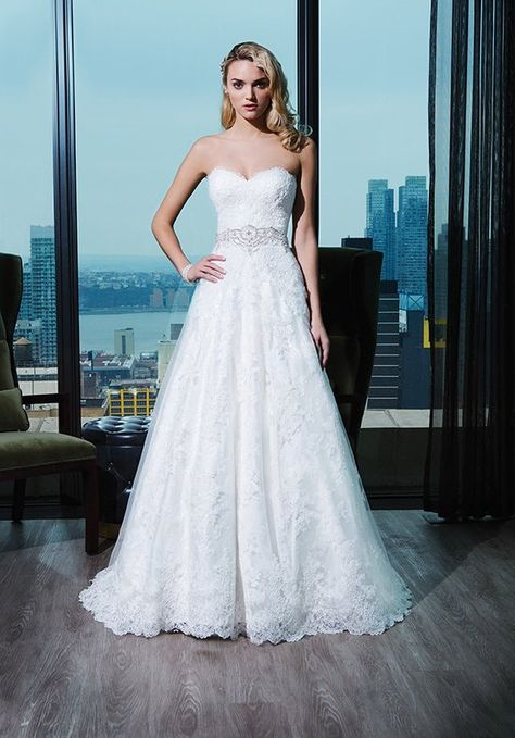 Corded lace ball gown with embellished sweetheart neckline and a sweep train   Justin Alexander Signature   Style: 9764
