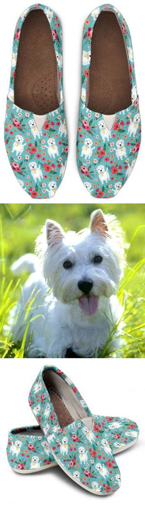 Casual Comfortable Sneakers Running Shoes West Highland White Terrier On Pink Print Running Shoes for Women