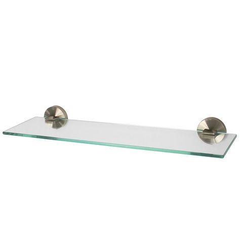 Speakman Neo 5 In W Wall Mounted Glass Bathroom Shelf In Brushed