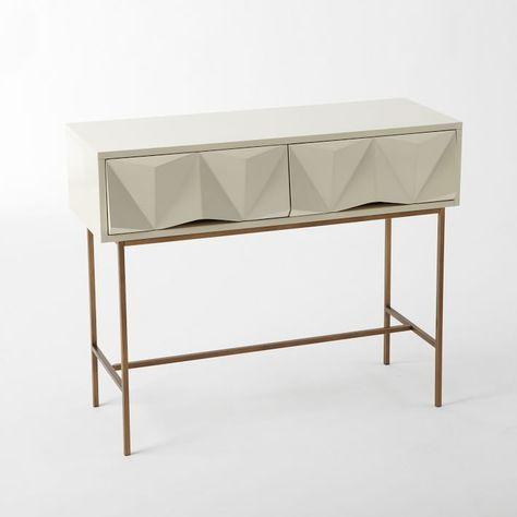 Sculpted Geo Console Furniture Geometric Furniture Home Decor