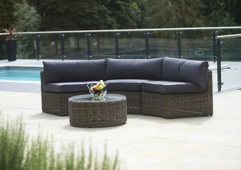 Curved Modular Rattan Garden Furniture