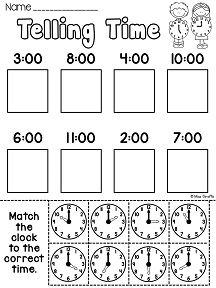 Clock Practice | Worksheet | Education.com
