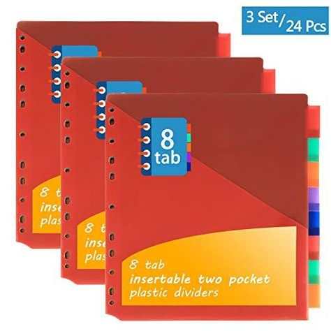 Insertable Plastic Divider - 8 tabs two pocket