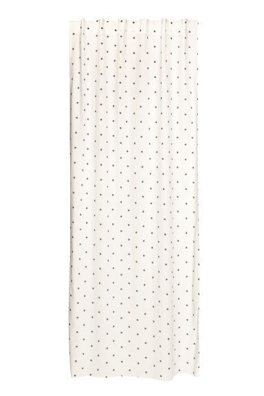 Patterned Curtain Panel Natural White Blue Stars Home All H M Us Curtain Patterns Curtains Panel Curtains