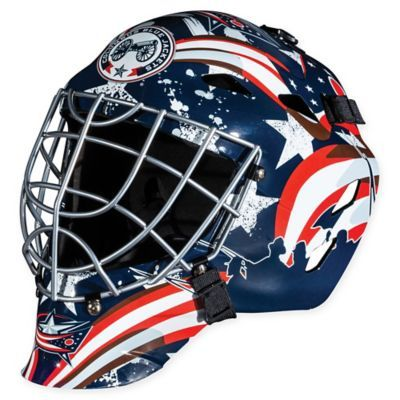 Nhl Columbus Blue Jackets Gfm 1500 Youth Street Hockey Face Mask Columbus Blue Jackets Franklin Sports Goalie Mask
