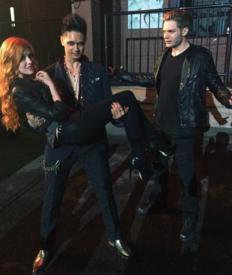 Clary Magnus and Jace // The Mortal Instruments // Shadowhunters // ABC Family // Shadowhunters TV Series