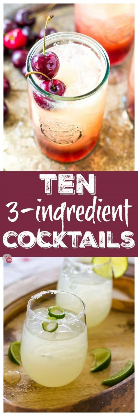 The best 3 Ingredient Cocktails to make! #threeingredients #easy #recipe #cocktails #easycocktails