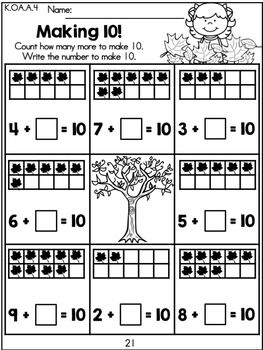 Fall Math Worksheets Distance Learning Kindergarten Math Worksheets Kindergarten Math Math Worksheets
