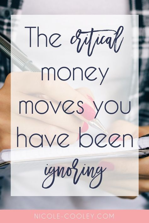 The 7 critical money moves you have been ignoring. The ironic part about your financial to-do list is that you could be doing everything right on a day to day basis, but it's the financial tasks that get neglected that can have the biggest impact on the long-term health of your finances. Things like refinancing, investments, legal work, etc. Click here to get your personal finances in order this fall! #personalfinance #moneymanagement #moneymindset