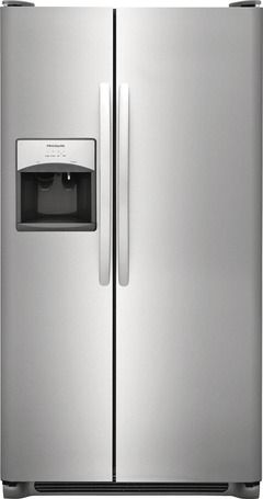 Frigidaire 25 5 Cu Ft Side By Side Refrigerator With Ice Maker Easycare Stainless Steel Lowes Com In 2020 Stainless Steel Refrigerator Side By Side Refrigerator Frigidaire Gallery