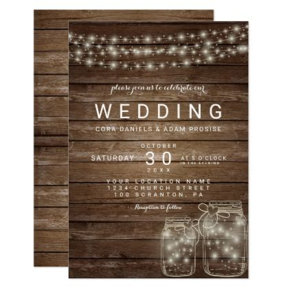 Elegant Rustic Mason Jar Lights Wedding Card Engagement Gifts Ideas Diy Special Unique Personalize