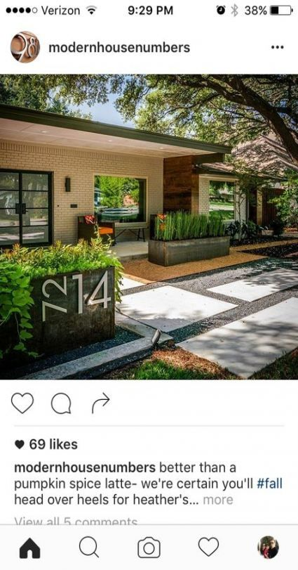 31 Trendy Ideas Landscaping Front Yard Curb Appeal Mid Century