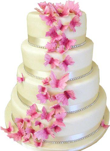 Wedding Cake Png Pink Wedding Cake Butterfly Wedding Cake Wedding Cake Images