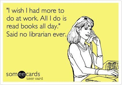 By Whooo S Reading Blog Team Celebrating Library Workers Month The Only Way We Know How Is That Even Possible S Library Humor Library Memes Librarian Humor
