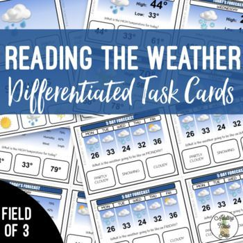 Weather Forecast Task Cards With Images Task Cards Life